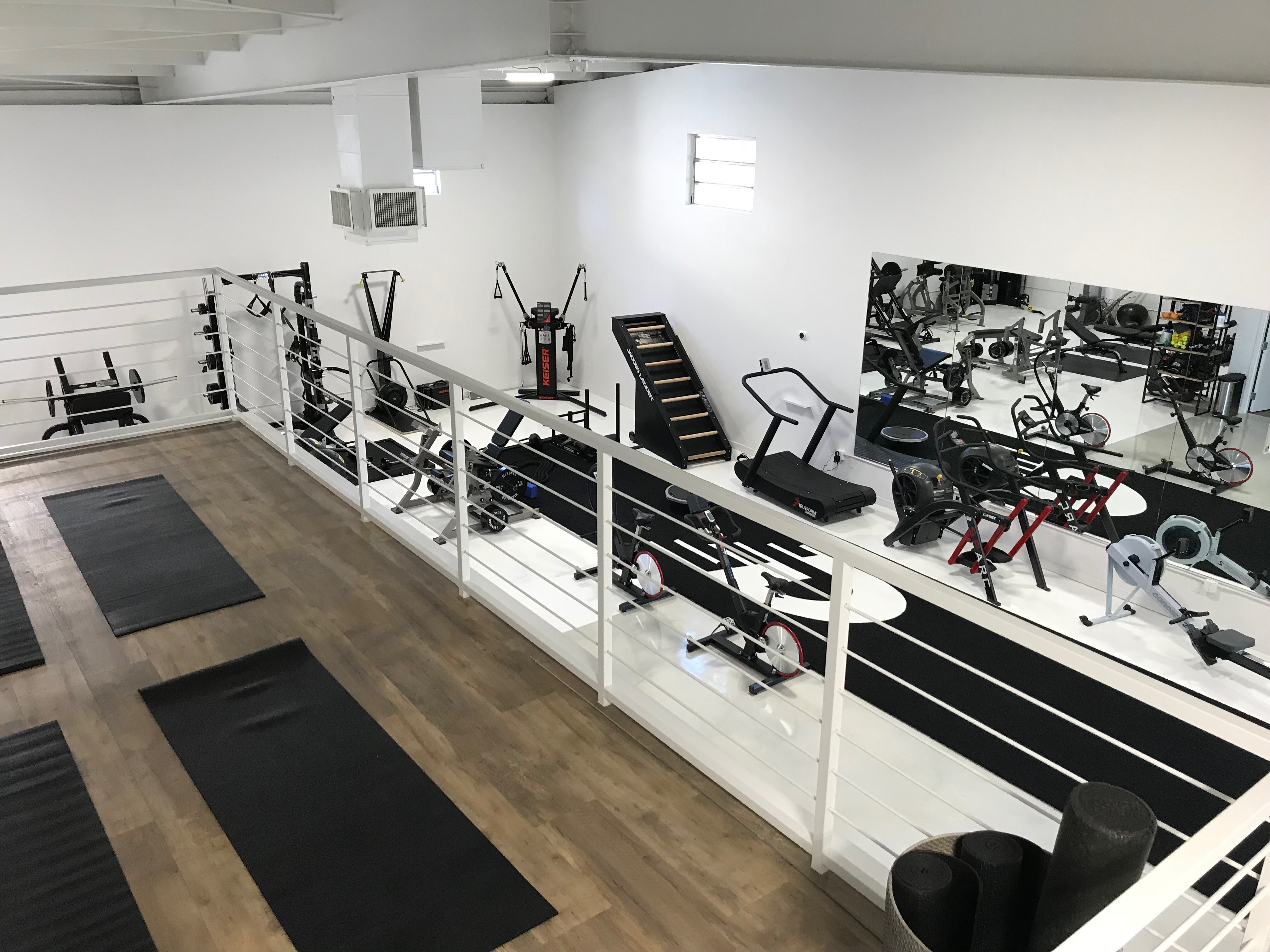 View down Drivenfit SWS gym floor