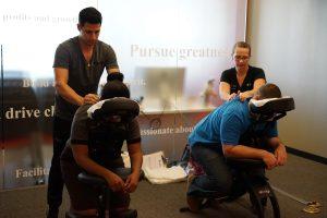 Corporate wellness chair massage