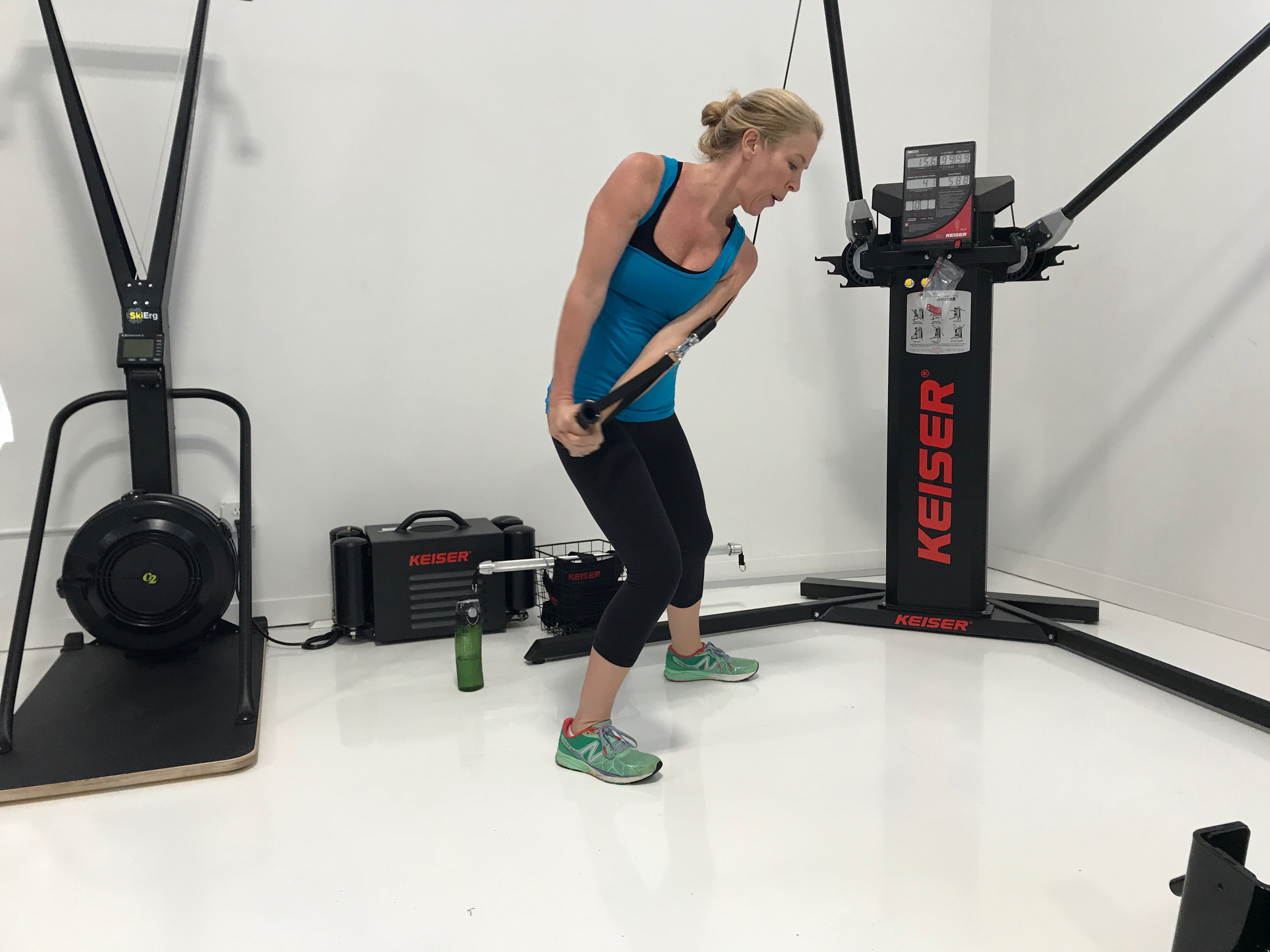 keiser training equipment used by driven