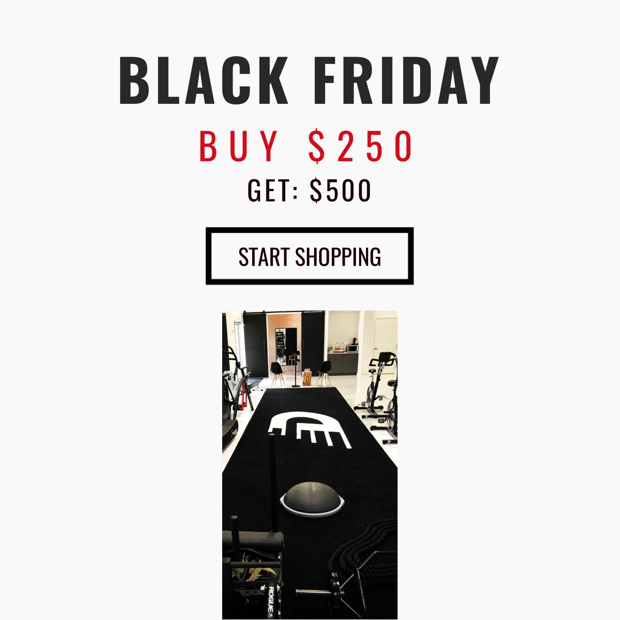 Black Friday Fitness Gift Card