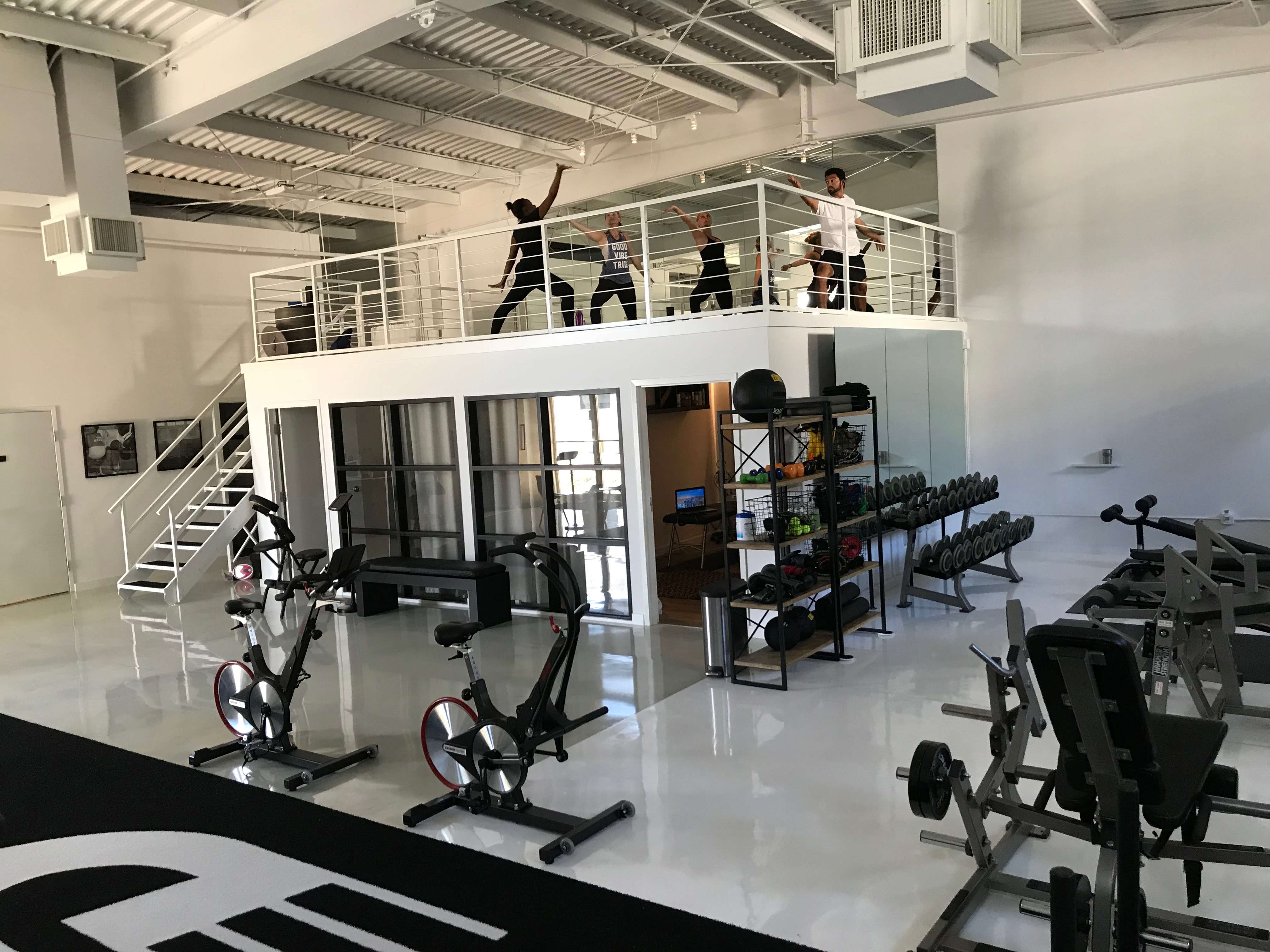 Upstairs Yoga Practice Driven South Tampa Gym