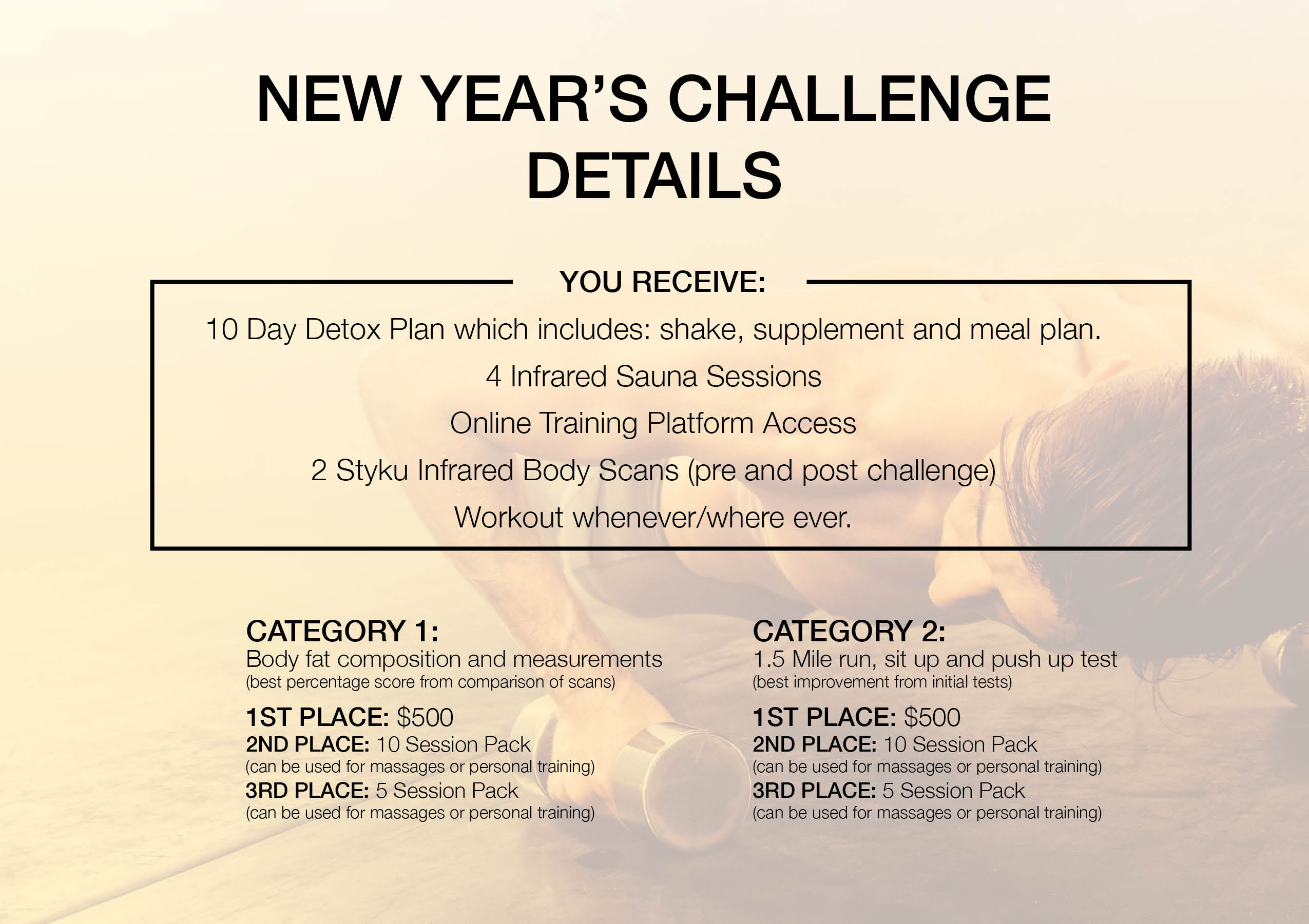 New Years Challenge Details 2018 Driven Fit Tampa