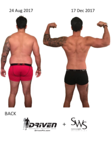 Before and after Training Driven Fit SWS