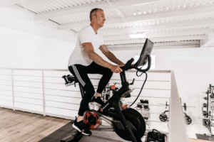 Man exercising with disk herniation DrivenFit