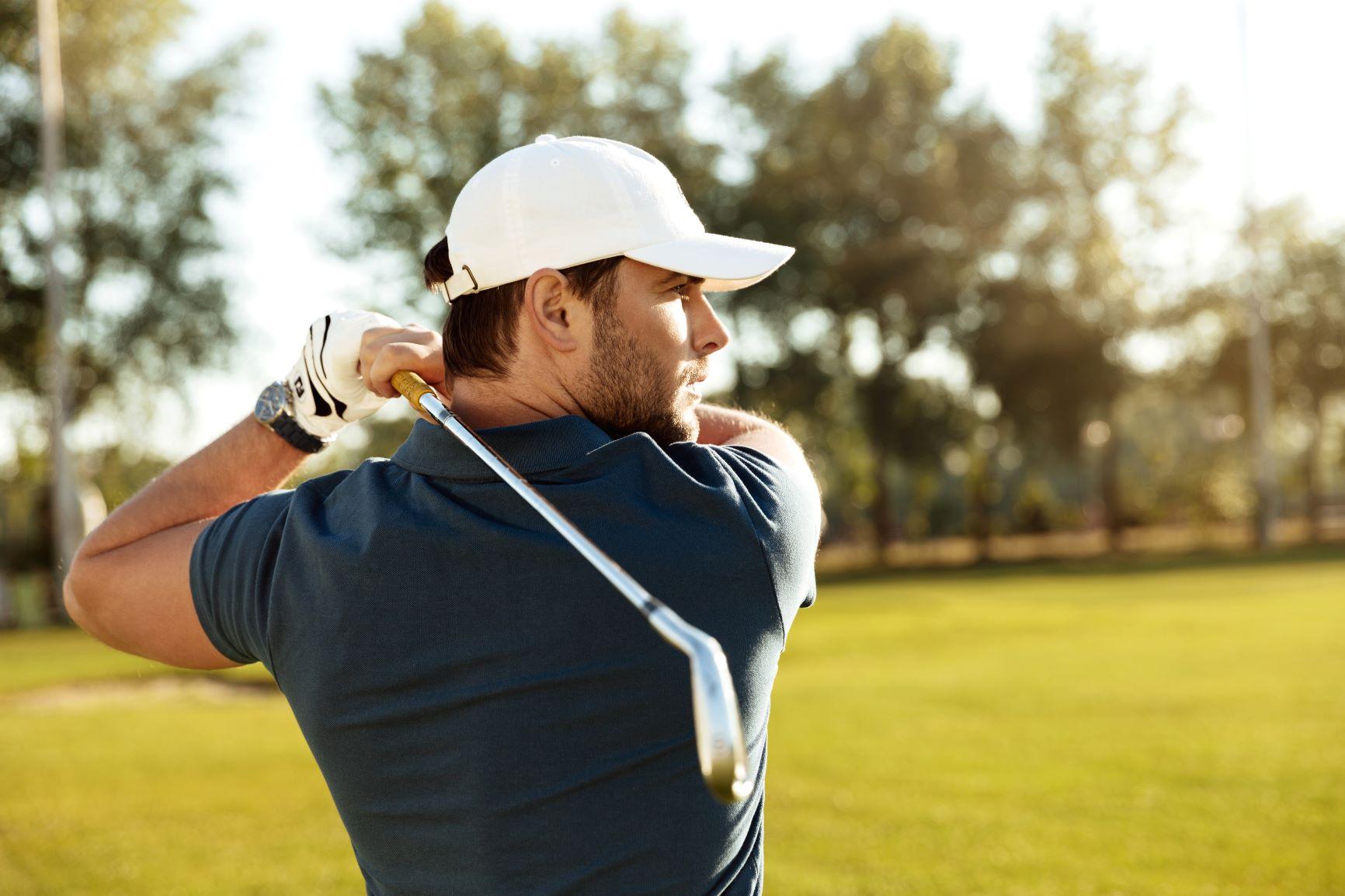 golf swing golfer after sports massage